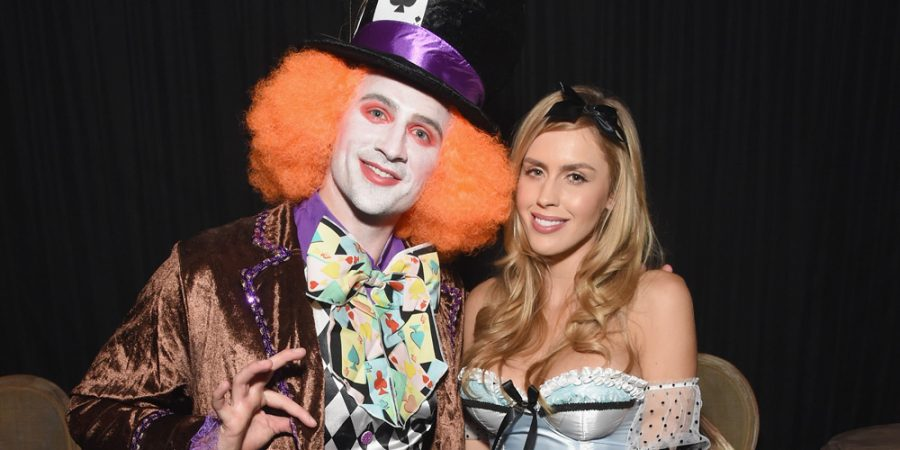 Ryan Lochte and guest attend the Casamigos Halloween Party (Photo by Michael Kovac/Getty)