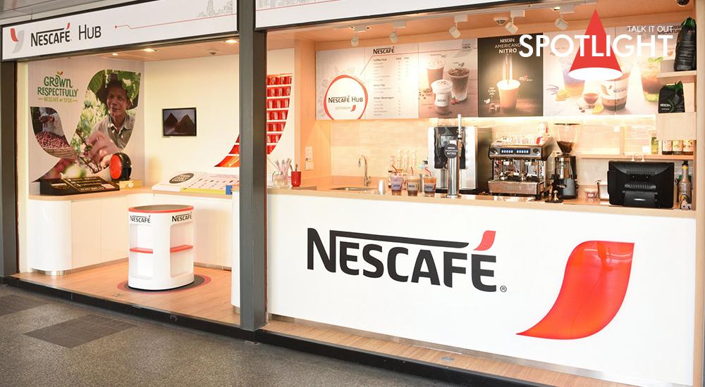 """ร้านกาแฟสดสไตล์ญี่ปุ่น """"เนสกาแฟ ฮับ แอท บีทีเอส ชิดลม"""""""